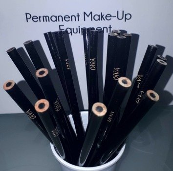 Black permanent pencil