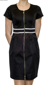 Cosmetic apron long with a zipper